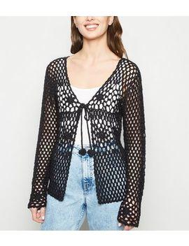 Black Crochet Cardigan by New Look