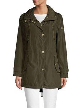 Hidden Collar Anorak Jacket by Michael Michael Kors