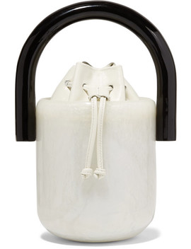 Olivia Acrylic And Leather Bucket Bag by Cult Gaia
