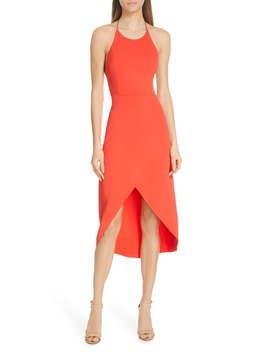 Kristy Halter Neck High/Low Dress by Alice + Olivia