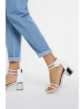 Heels The Deal Metallic Clear Heels by Nasty Gal