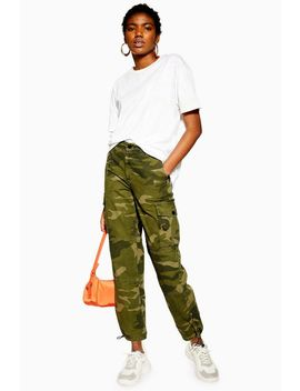 Petite Combat Camouflage Trousers by Topshop