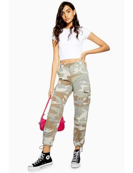 Pale Camouflage Utility Trousers by Topshop