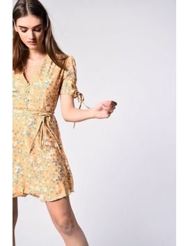 **Floral Button Front Dress By Glamorous by Topshop