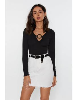 Circle My Heart O Ring Plunging Top by Nasty Gal