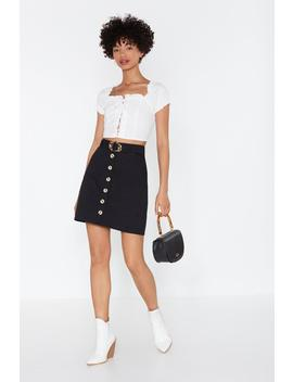 Button Good Terms A Line Skirt by Nasty Gal
