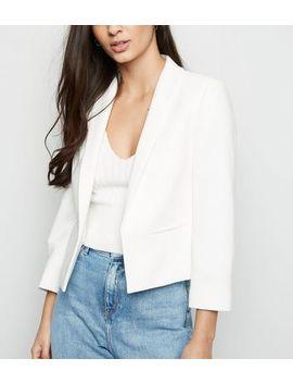 White 3/4 Sleeve Blazer by New Look