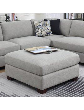Emerald Home Vernon Cloud Gray Ottoman With Fixed Cushion And Block Feet by Emerald Home Furnishings