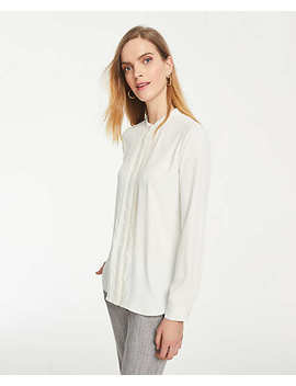 Pintucked Blouse by Ann Taylor