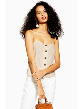 Button Bow Back Cami by Topshop