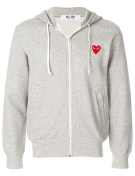 Hoodie Met Hartpatches by Comme Des Garçons Play
