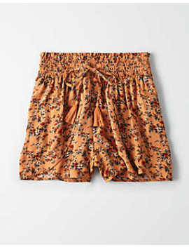 Ae High Waisted Ruffle Tulip Shorts by American Eagle Outfitters