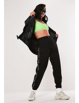 Black Pac A Mac Bumbag Jacket by Missguided