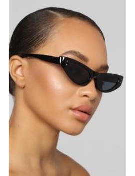 Intrigued Sunglasses   Black by Fashion Nova