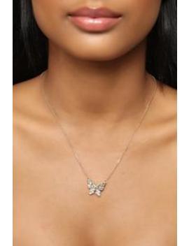 Let's Transform Necklace   Gold by Fashion Nova