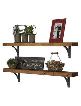 Pinecrest Industrial Grace Simple Bracket 2 Piece Accent Shelf Set by Wayfair