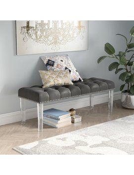Adcock Button Tufted Upholstered Bench by Wayfair