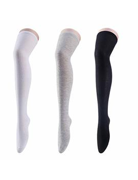Womens Long Striped Socks Over Knee Thigh High Socks Stocking by Cismark