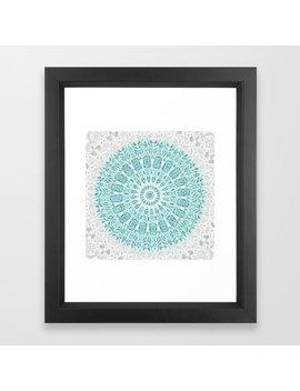 A Glittering Mandala Framed Art Print by Society6