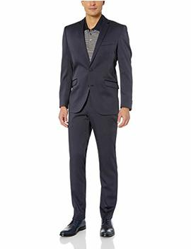 Kenneth Cole Reaction Men's Stretch Slim Fit Finished Bottom Suit by Kenneth Cole+Reaction