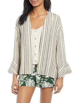 Stripe Jacquard Linen Blend Jacket by Bp.