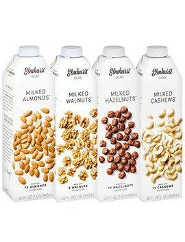 4pk Elmhurst Milked Variety Pack Almond Hazelnut Cashew Walnut Milk Delicious by Elmhurst
