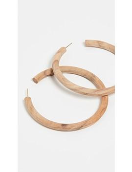 Arlie Maxi Wood Hoop Earrings by Soko
