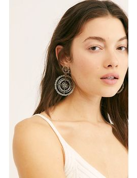 Solar Beaded Hoop Earrings by Free People