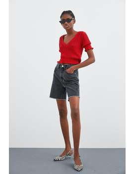 Shirt With Elastic Hem  Short Sleeve T Shirts Trf by Zara