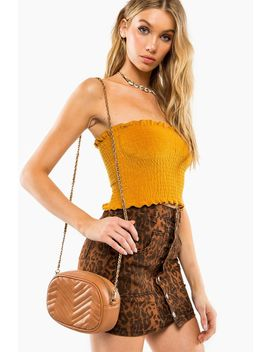 Cheveron Quilted Convertible Crossbody Belt Bag by A'gaci