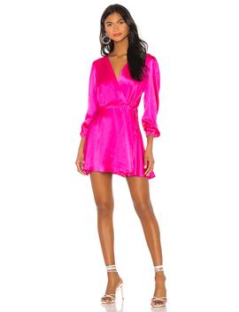 Wrap Silk Mini Dress by No Nchalant