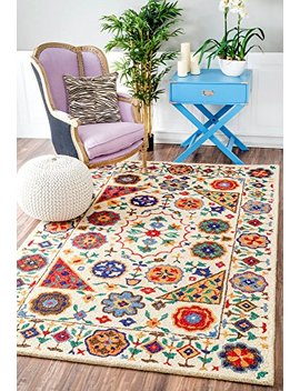 Handmade Country Floral Border Area Rug by Nu Loom