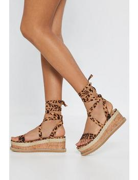 Bold Move Leopard Cork Sandals by Nasty Gal
