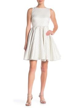 Open Back Dot Party Dress by Betsey Johnson