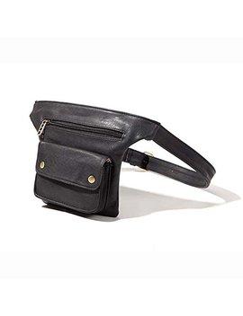 Badiya Couples Multifunction Pu Leather Waist Packs With Cell Phone Pouch by Badiya