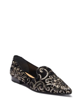 Mary Embroidered Loafer by Badgley Mischka
