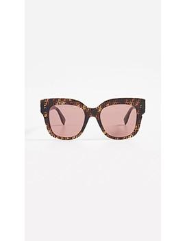 Logo Square Acetate Sunglasses by Fendi