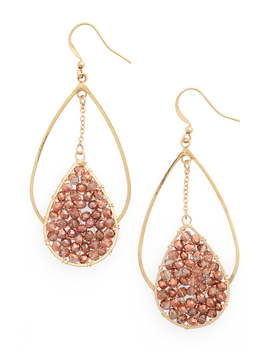 Double Teardrop Earrings by Panacea