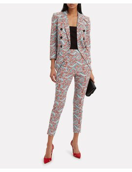 Empire Hibiscus Floral Dickey Blazer by Veronica Beard