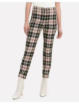 Gemini Checked Straight Ankle Pants by Veronica Beard