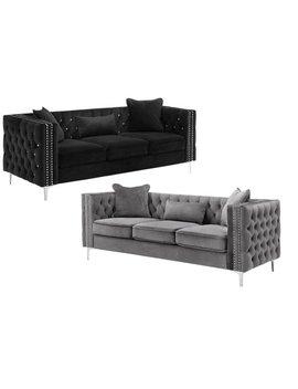 Lilola Lorreto Velvet Sofa by Generic