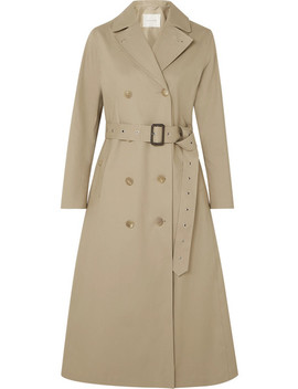 Belted Bonded Cotton Trench Coat by Mackintosh