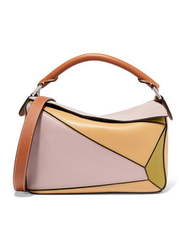 + Paula's Ibiza Puzzle Small Color Block Textured Leather Shoulder Bag by Loewe
