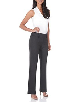 Rekucci Women's Smart Desk To Dinner Stretch Bootcut Pant W/Tummy Control by Rekucci