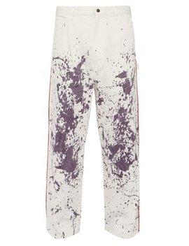 Paint Splatter High Rise Cotton Blend Jeans by Needles