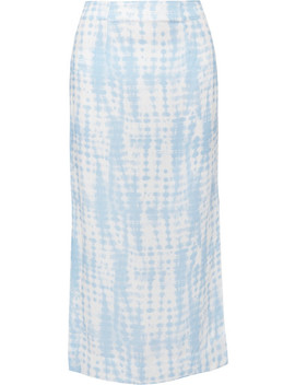 Penny Tie Dye Jersey Midi Skirt by Staud