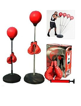 Boxing Punching Speed Ball Boxing Bag Anti Stress Fitness With Boxing Glove For Teenagers And Adults Adjustable 48' To 59' In Height New by 5 Star Td