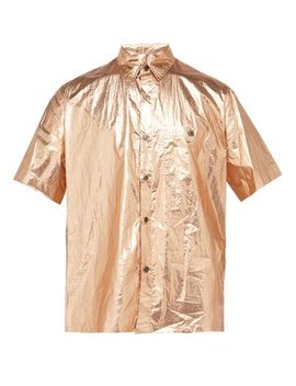 Shinny Foiled Cotton Shirt by Isabel Marant