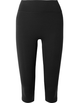 Center Stage Cropped Stretch Leggings by All Access
