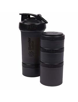 Blender Bottle Pro Stak 22 Oz Bottle With 6 Piece Twist N' Lock Storage Set, Black by Blender Bottle